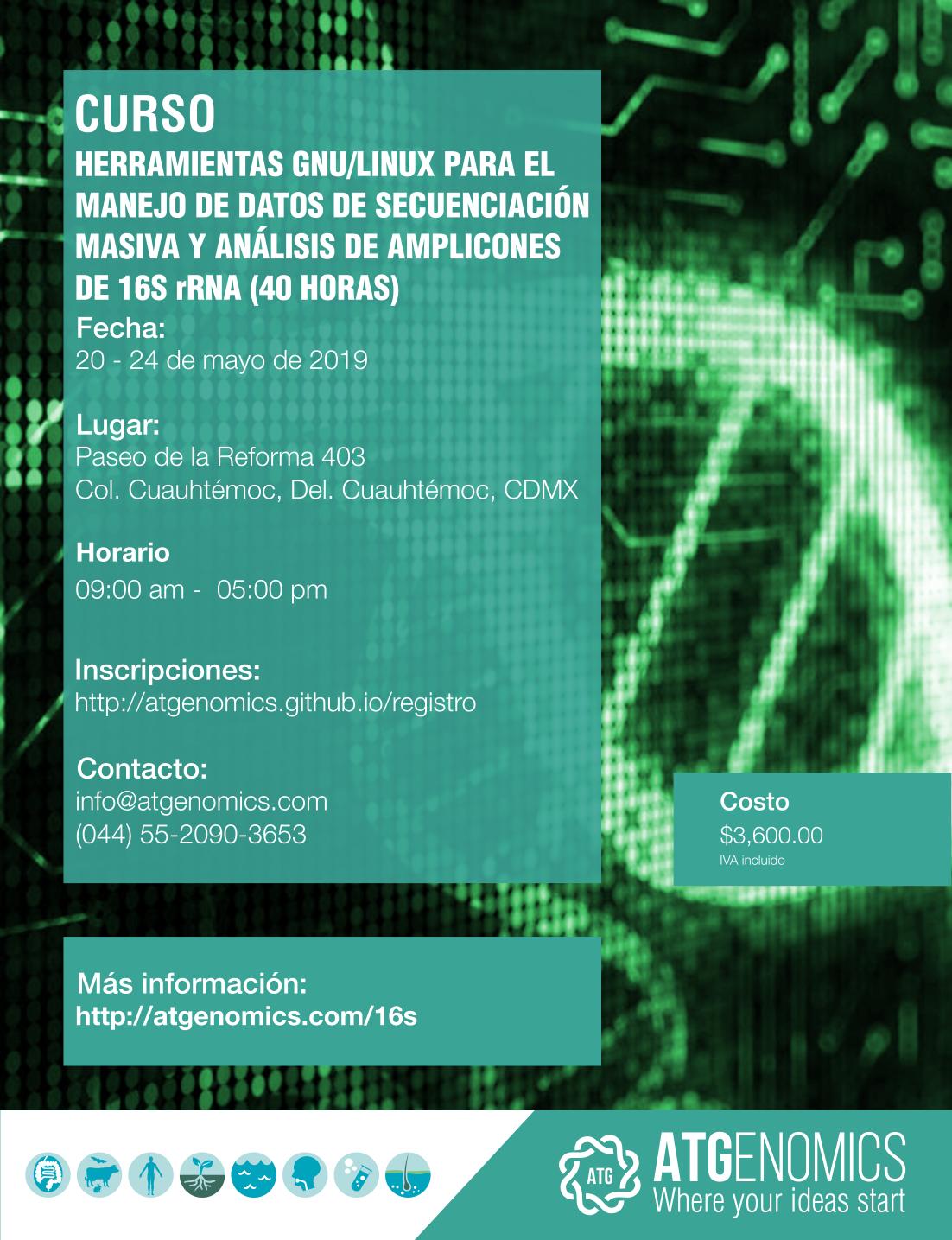 ATGenomics - Workshops - Análisis de amplicones de 16S rRNA